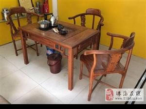 红木功夫茶台,原价8500元,现以2800元便宜转