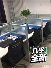 电话销售桌、工位,2.4m长,1.2m宽,1.1m高(6人位)两套,各配6把滑轮椅,2200元/套。...
