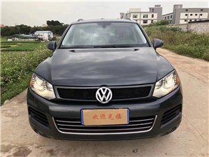 黄江二手车13年款大众进口途锐3.6特价10多�f