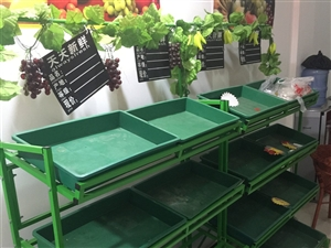 九成新水果,蔬菜货架出售