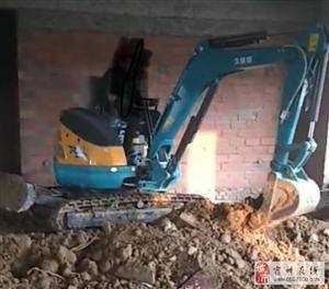 微挖机干活