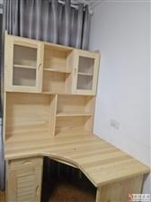 全新实木松木无节电脑桌书桌一体
