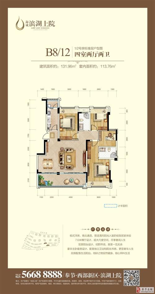 B8/12栋1/2号房标准层户型图