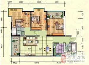 A-6号房, 3室2厅2卫, 建筑面积约113.16平米