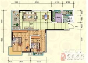 C-2/7号房, 2室2厅1卫, 建筑面积约88.73平米