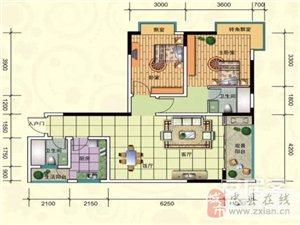 E-3号房, 2室2厅2卫, 建筑面积约95.75平米