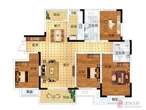 建业桂园 A户型,4室2厅2卫,144平米(建筑)