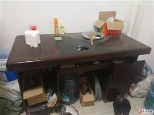 建水旧办公桌兼电脑桌