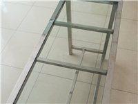 出售不锈钢钢化玻璃桌子课桌、书桌、餐桌10台