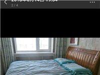 出售8成新实木床(1.5米X1.8米)+床垫