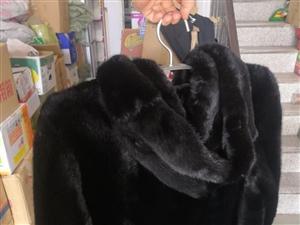 男款貂皮两件黑色.一件带帽一件翻领出一件留一件