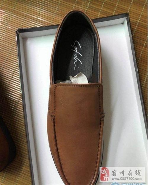 43码棕色沙驰男鞋200块拿走,只卖两天