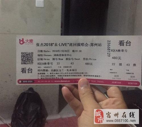 张杰演唱会门票