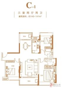 C-1三室两厅两卫140-140m2