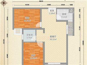 龙山观邸毛坯房2室2厅1卫110万元