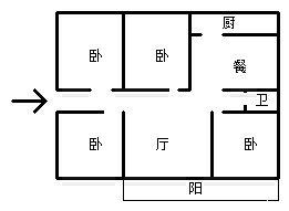 祥和一街大气4室,南北户型,1梯1户