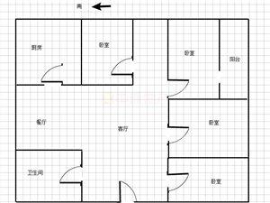 老土地局宿舍3室2厅2卫90万元