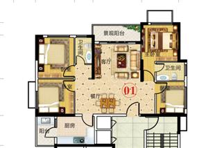 家和西岸悦湾4房中层67.4万