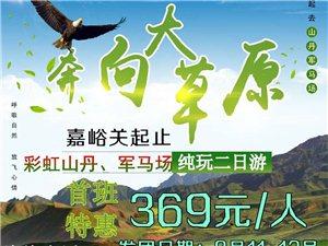 山丹军马场彩虹山丹纯玩2日游(8月11日-8月12
