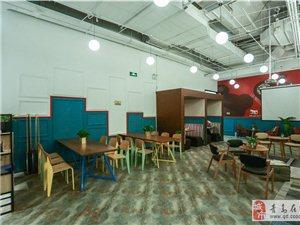 市南家乐福旁精装写字间共享400平办公空间