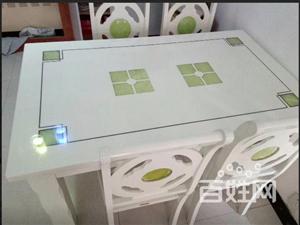 处理 1.4 长 85宽的餐桌十4把椅子 