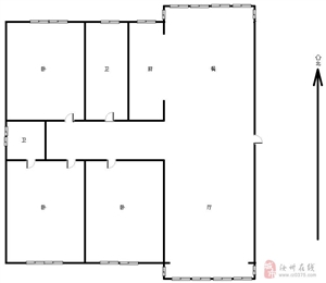 福地国际花园3室2厅2卫65万元140可分期