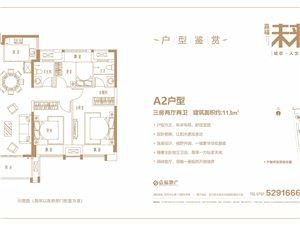 三房两厅两卫 建筑面积约:113�O