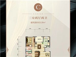 C户型 三室两厅两卫 128�O