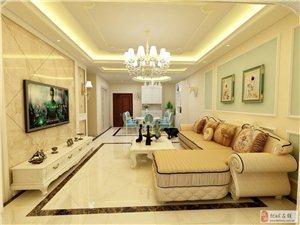 美女设计师作品:114平方中式三居室装修效果图