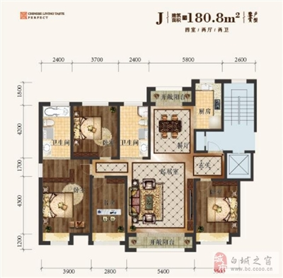 J-建筑面积180.8�O