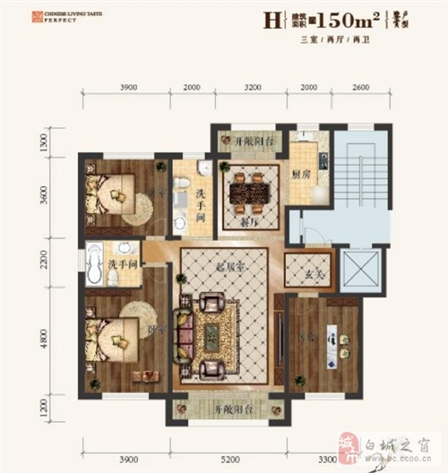 H-建筑面积150�O