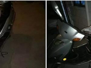 豪爵/悦星/125踏板摩托车一辆,前后真空&#8203&#8204&#8204胎