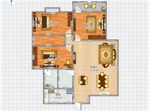 盛景花园,3室2厅1卫,64万元