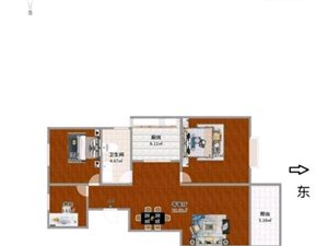 鸿润都市华庭3室2厅1卫66.8万元