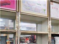 出售8成新老粗布货架和铝合金框柜子