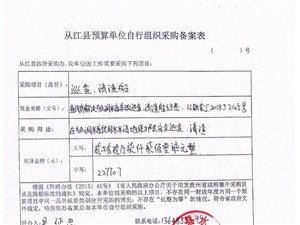 独洞水库巡查、清渣船采购询价公告(3)