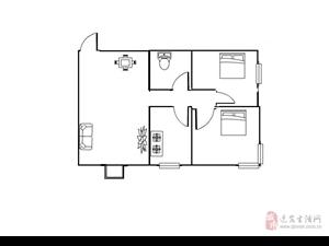 奥特富力城精装两室,地段优越,稀有好房