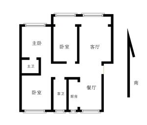 大征社区大产权3室2厅2卫首付31万元