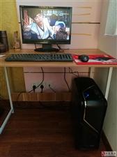 电脑主机游戏主机四核整机带显示器办公游戏电