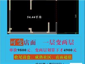 龙翔国际临街店面54.44平53万元