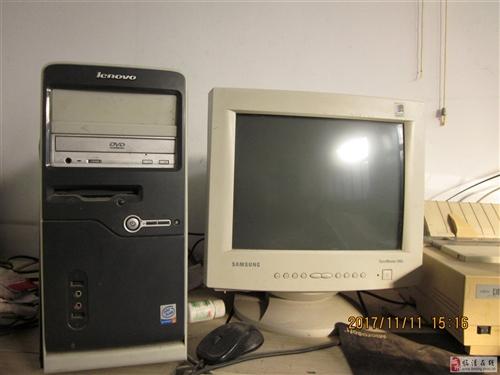 联想台式电脑、针式打印机、鱼缸、缝?#19968;?#32654;容床