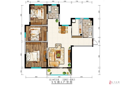 123平米三室两厅