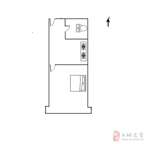 22183长庆新居1室一厅15万元