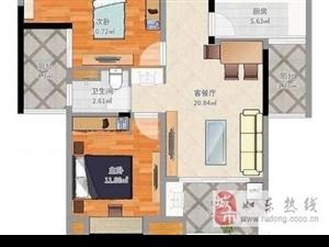 雨润广场高层毛坯2室1厅1卫86平78万元