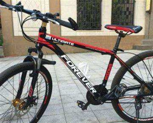 8成新的上海牌永久山地自行車,原價998元。
