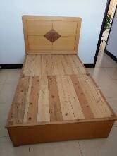 自家用全木床1.2m*2m