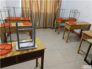 低价转让辅导班用的书桌课桌凳子空调中小学课外读物,