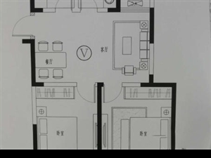 昌和时代电梯5楼毛2室1厅1卫90平82.8万