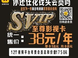 轰动全城  38元全网VIP视频会员16大平台免费看