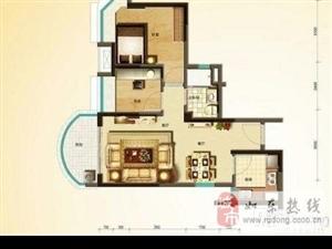 碧桂园电梯房高层毛坯2室2厅1卫77平69万元